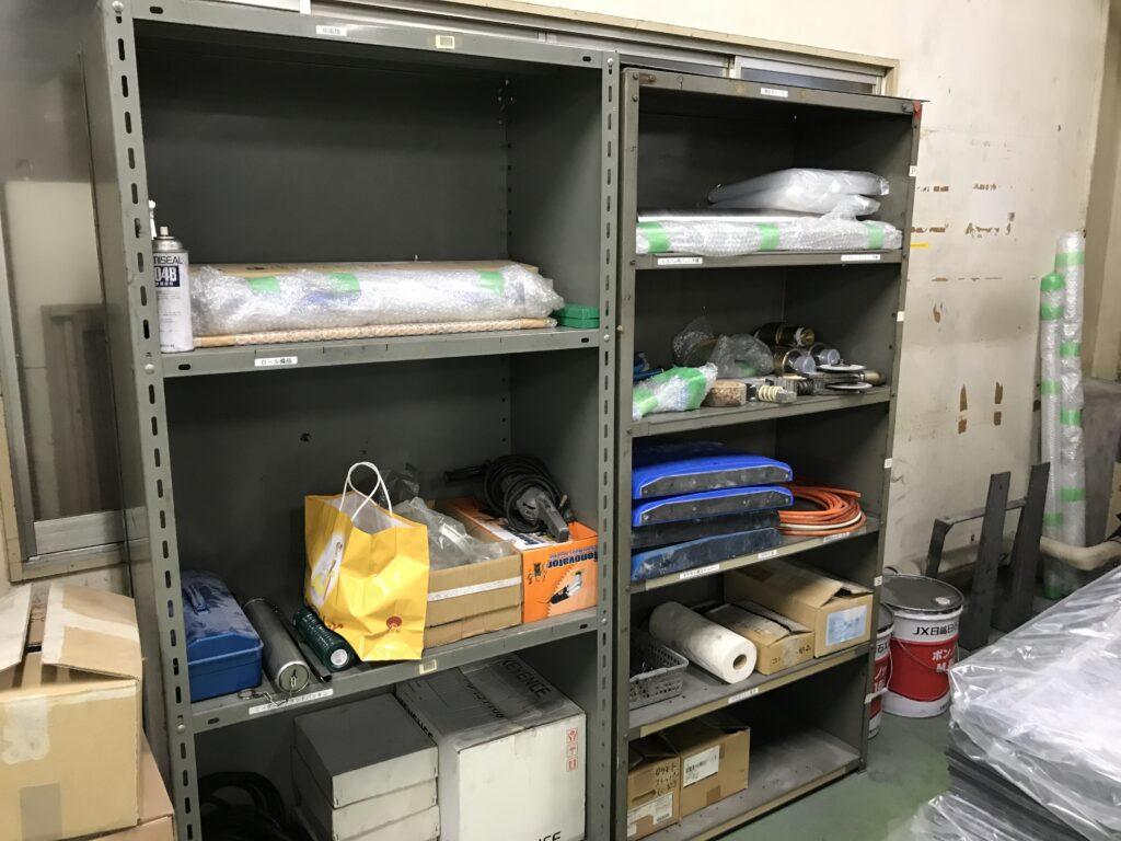整理をしてスッキリした道具棚
