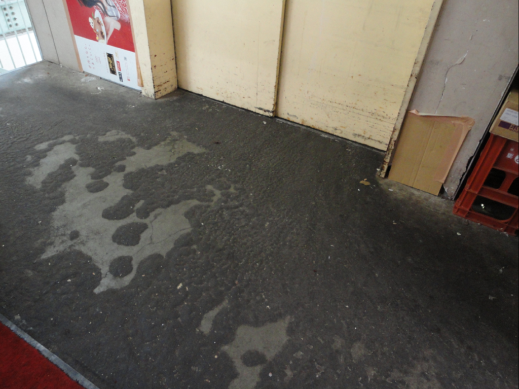 床面の油分