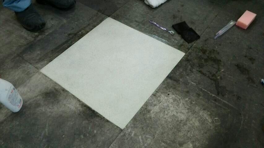 局所集中の床磨き